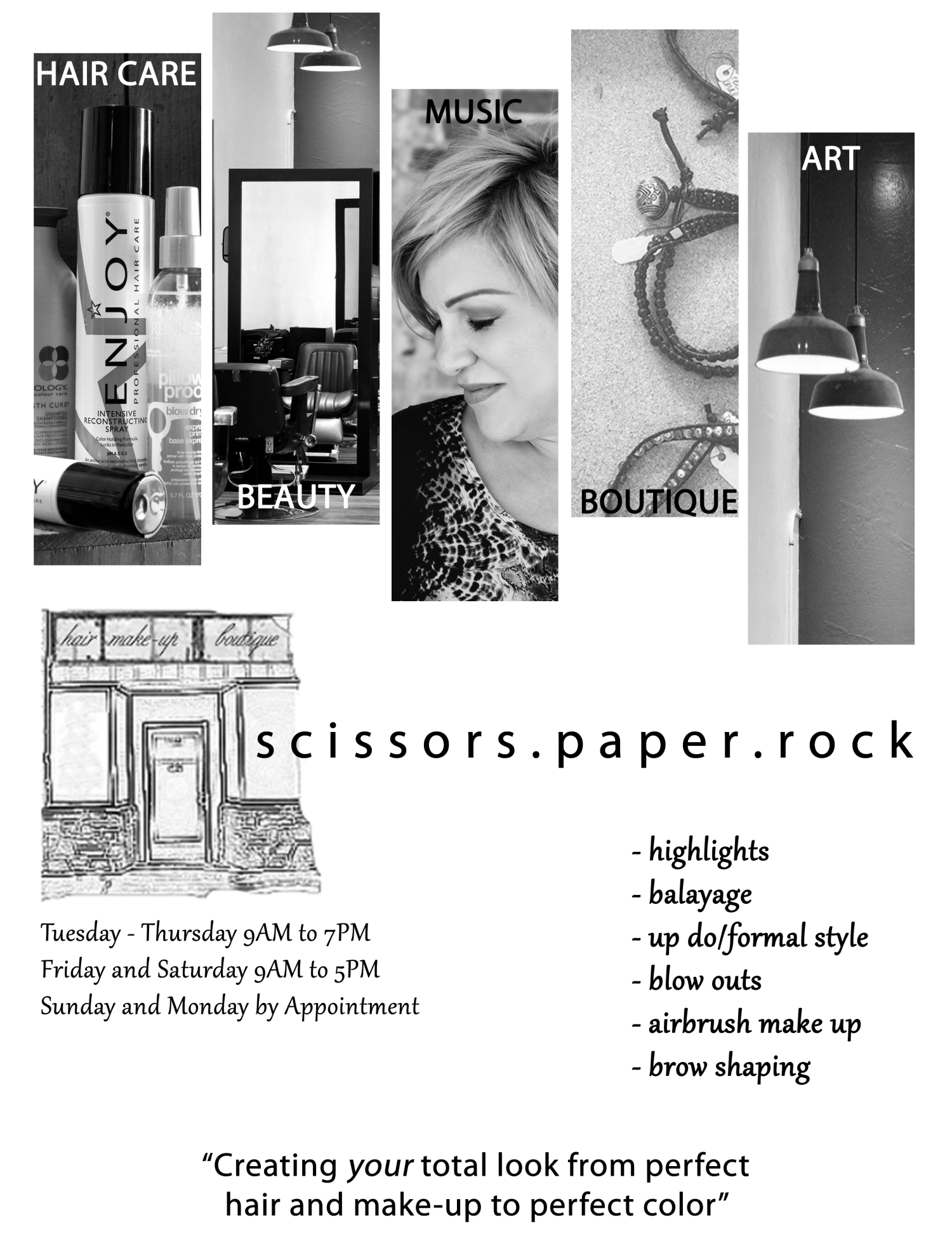 Scissors Paper Rock Salon and Boutique